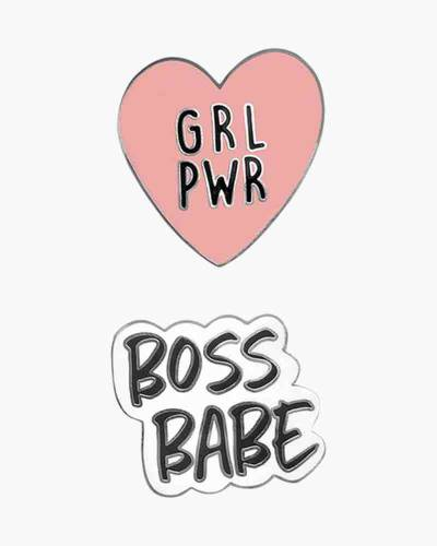 Boss Babe and GRL PWR Phone Charms Set
