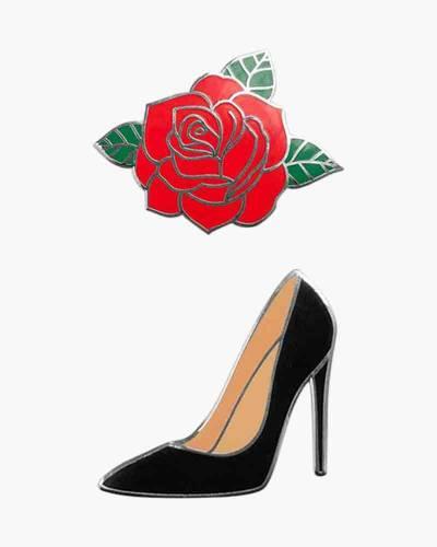 Rose and High Heel Phone Charms Set