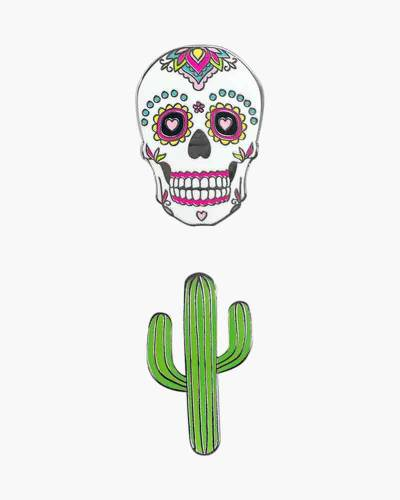 Sugar Skull and Cactus Phone Charms Set