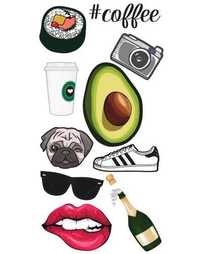 Hipster StickerTags