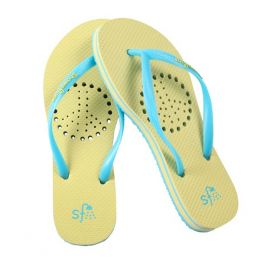 Showaflops Lime and Turquoise Peace Flip-Flops