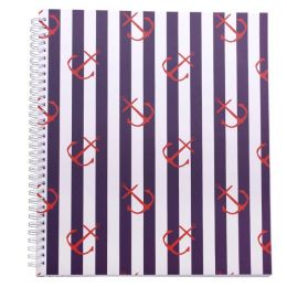 Amy Ruth Designs Anchors Notebook