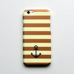 Amy Ruth Designs Gold Stripe Anchor iPhone 6 Case