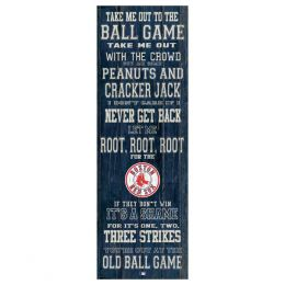 Artissimo Boston Red Sox Take Me Out Canvas Sign