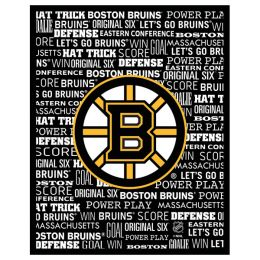 Artissimo Boston Bruins Typography Canvas Sign