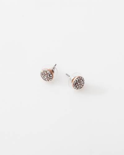 Exclusive Rose Gold Pave Round Earrings