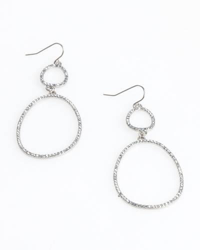Exclusive Pave Double Hoop Earrings