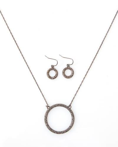 Exclusive Pave Ring Necklace