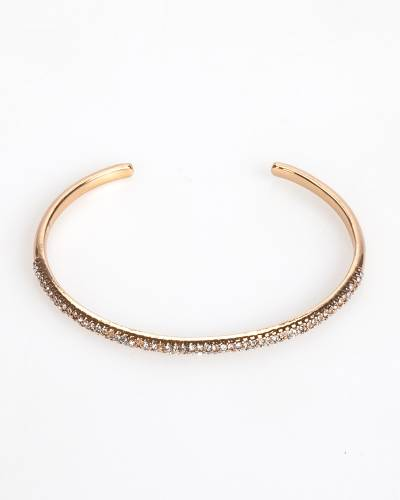 Exclusive Thin Pave Cuff in Gold