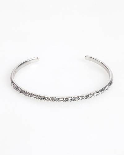 Exclusive Thin Pave Cuff in Silver