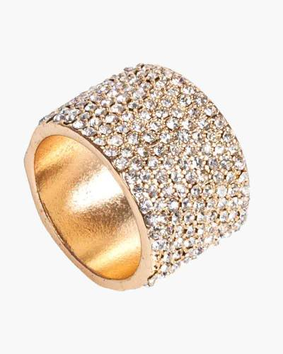 Exclusive Wide Pave Ring in Gold