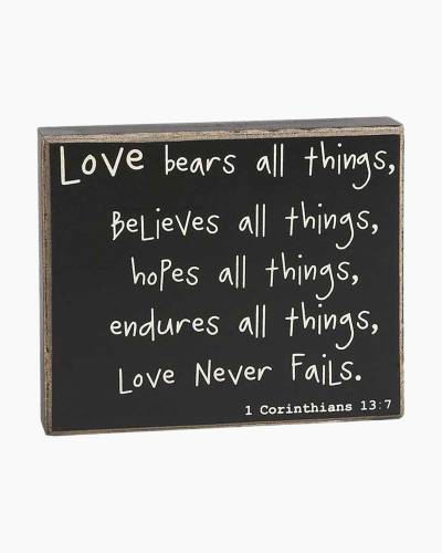Love Never Fails Sign Board
