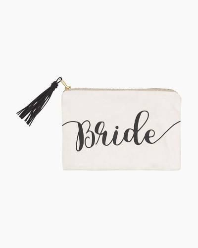 Bride Cosmetic Bag with Tassel