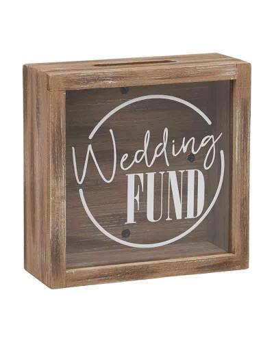 Wedding Fund Wooden Bank