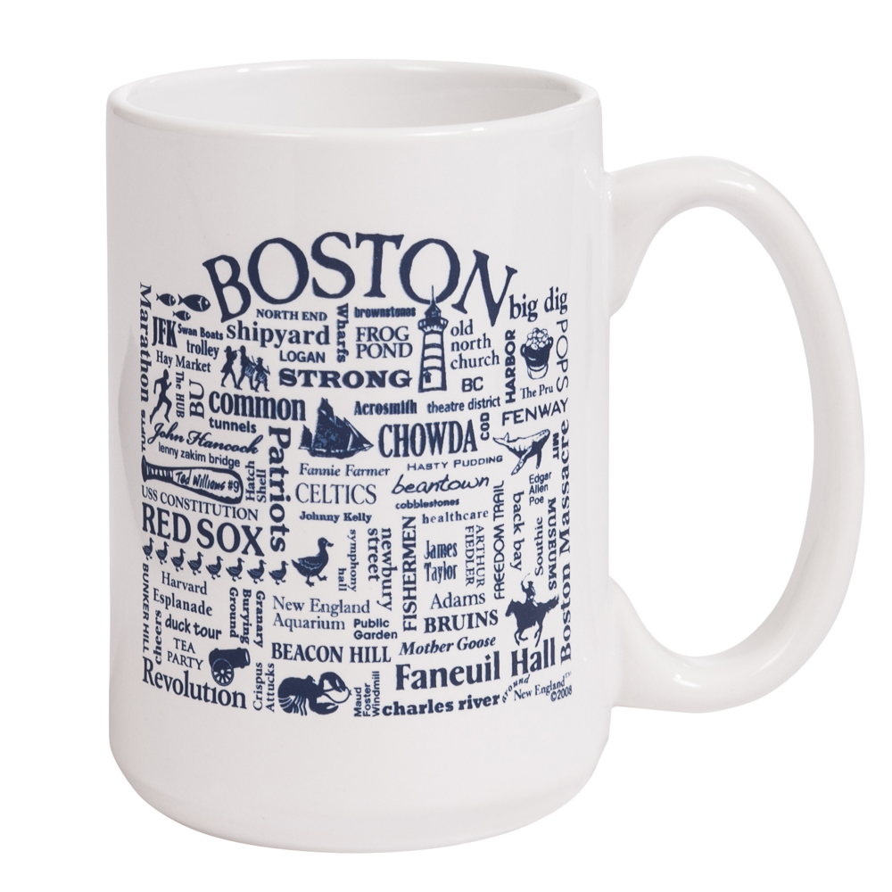 Where Life Takes You Words of Boston Mug