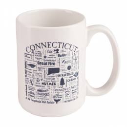 Where Life Takes You Words of Connecticut Mug