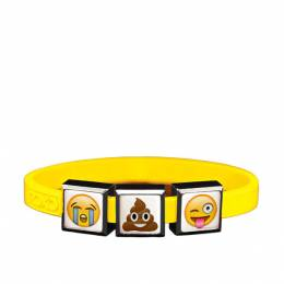 Top Trenz Emoji Crying Face , Poop Smiley and Wink Face Charm Bracelet