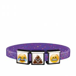 Top Trenz Emoji  Crying Face , Poop Smiley and Grinning Smiley Face Charm Bracelet