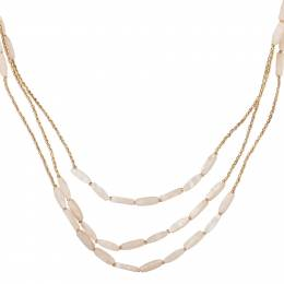 Mia + Tess Designs ™ Long Multi-Strand Mother of Pearl Necklace