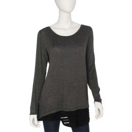 Stiletto Reversible Grey Tunic with Mesh Insert