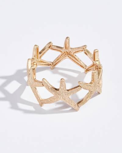 Starfish Stretch Bracelet in Gold
