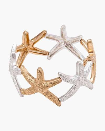 Starfish Stretch Bracelet in Two-Tone