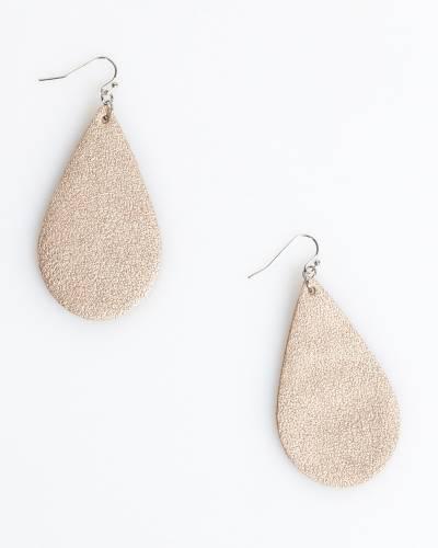 Metallic Teardrop Earrings in Gold