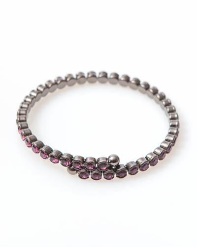 Exclusive Crystal Wrap Bracelet in Amethyst
