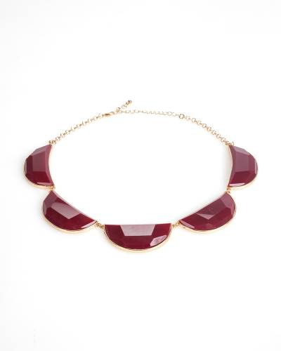 Five Stone Statement Necklace and Earrings Set