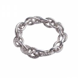 The Paper Store Silver Chain Stretch Bracelet