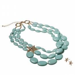 The Paper Store Starfish Triple Strand Necklace