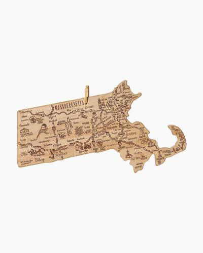 Destination Massachusetts Bamboo Cutting Board