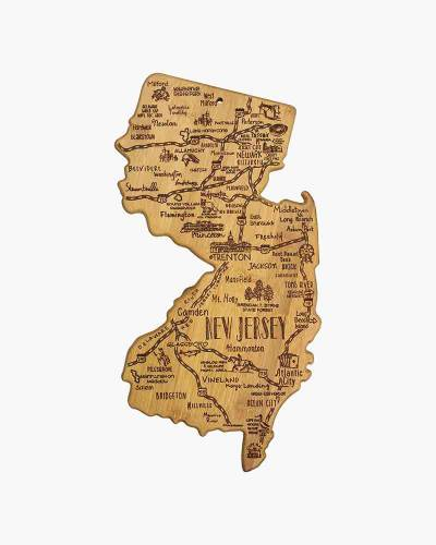 Destination New Jersey Bamboo Cutting Board