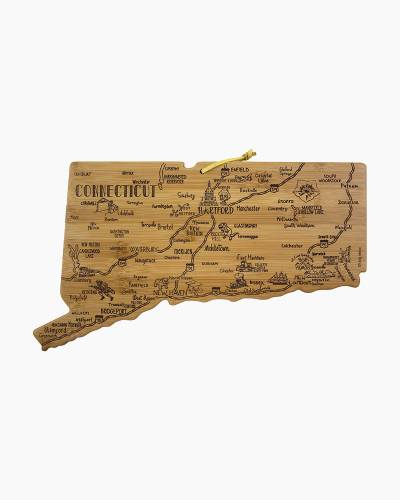 Destination Connecticut Bamboo Cutting Board