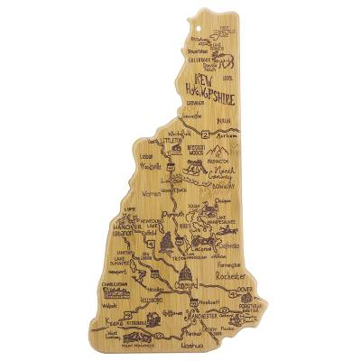 Destination New Hampshire Bamboo Cutting Board