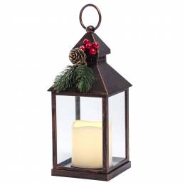 The Paper Store Lantern with LED Pillar Candle