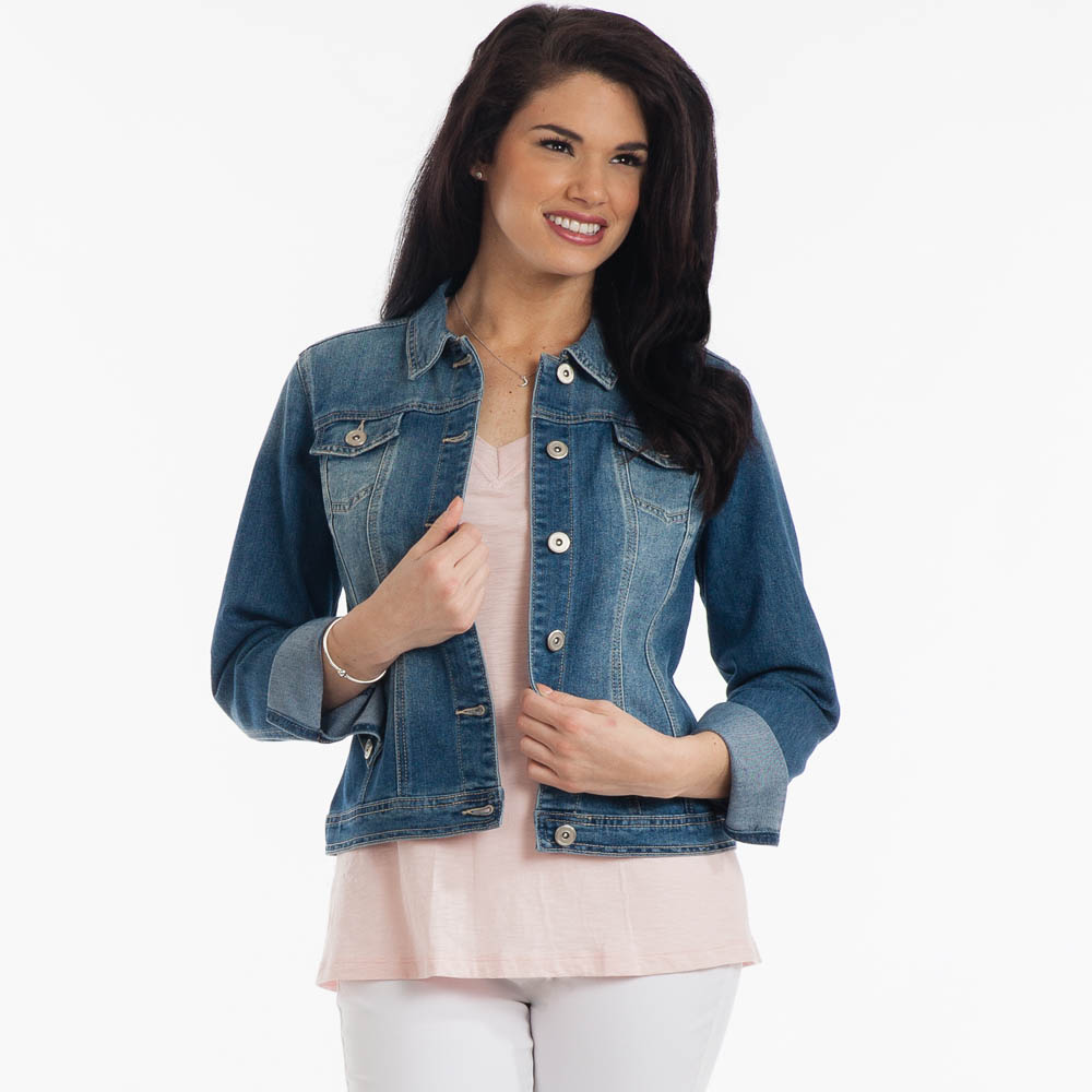 Adorn Fashions Distressed Denim Jacket