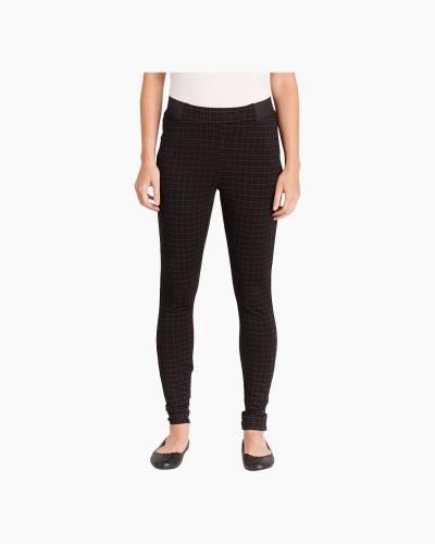 Plaid Ponte Pants in Black
