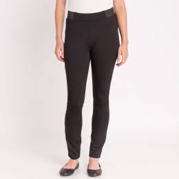 Adorn Fashions Ponte Pants in Solid Black