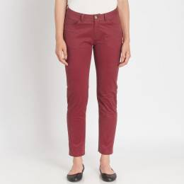 Mia + Tess Designs ™ Classic Skinny Jeans in Burgundy