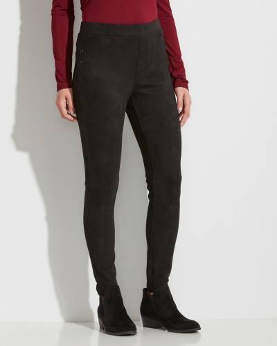Black Suede Pants