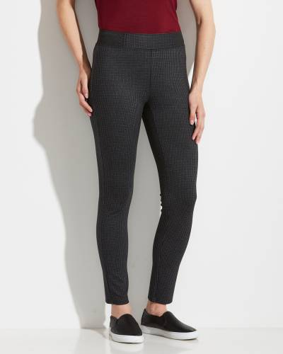 Black and Grey Plaid Pants