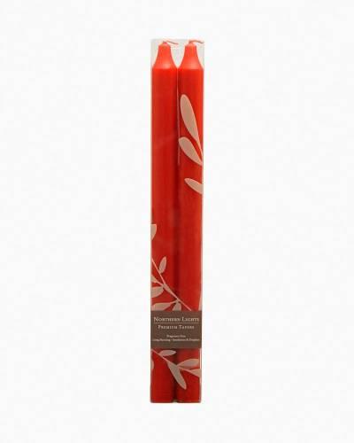 Crimson Taper Candles (2-Pack)