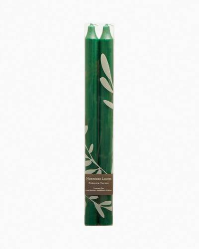 Hunter Green Taper Candles (2-Pack)
