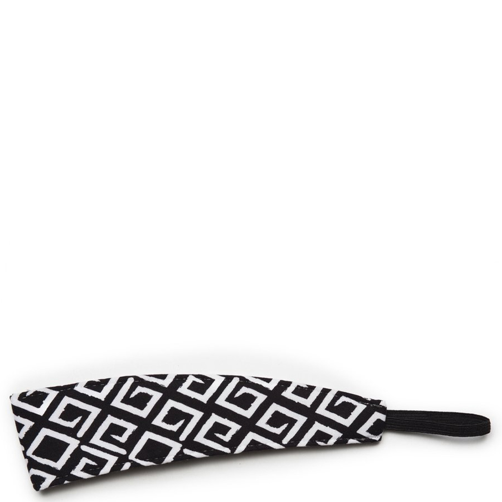 Banded Wide Black and White Tribal Headband