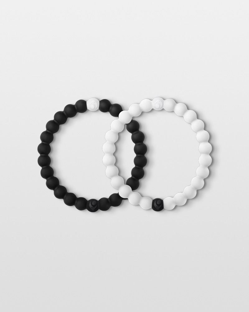 Lokai Black and White Lokai Bracelet Pair