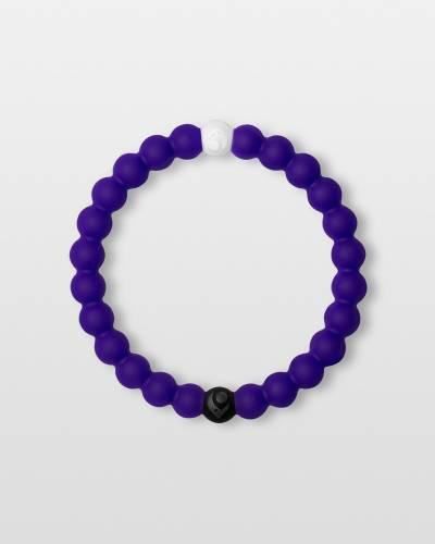 Limited Edition Split Purple Lokai Bracelet Supporting the Alzheimer's Association