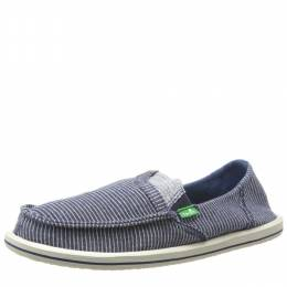 Sanuk Women's Navy Stripped with Pocket Espadrille