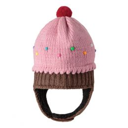 Knitwits Strawberry Cupcake Knit Infant Hat