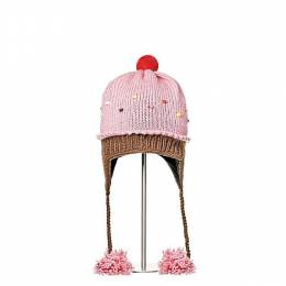 Knitwits Strawberry Cupcake Knit Toddler Hat